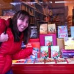 Live and Let Swim spotted in store window of Village Books. (Very near James Bond)